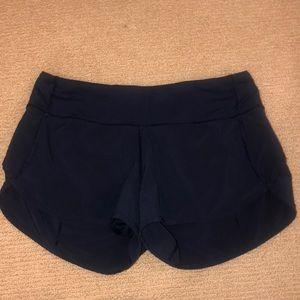 Navy blue lululemon shorts